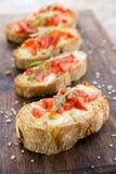 意大利bruschette,传统开胃菜 图库摄影