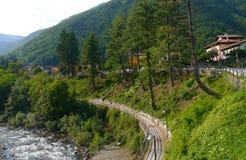 意大利cannobio山河风景piemont 库存图片
