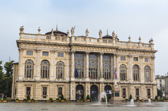意大利madama palazzo都灵 库存图片