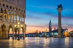 意大利marco圣方形威尼斯 库存照片