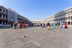 意大利marco圣方形威尼斯 库存图片