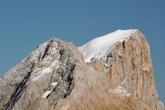 意大利marmolada山顶 免版税图库摄影