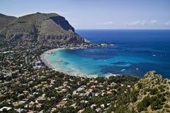 意大利mondello巴勒莫西西里岛 免版税库存照片