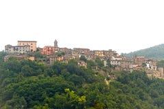意大利montefeltro老sassocorvaro城镇 图库摄影