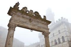 意大利montepulciano顶层井 图库摄影