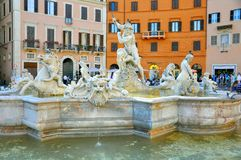 意大利navona广场罗马 库存图片