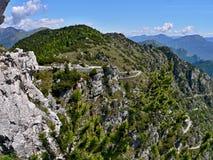 意大利Passo di Tremalzo 库存图片
