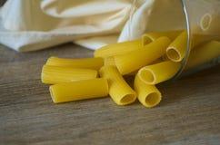 意大利pastasciutta rigatoni 库存照片