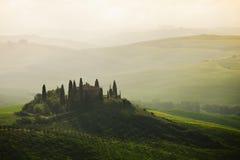 意大利pienza托斯卡纳 免版税库存照片
