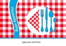 意大利placemat餐馆 免版税图库摄影