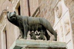 意大利remus罗马romulus符号 免版税图库摄影