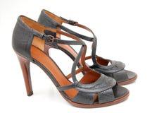 意大利s穿上鞋子夏天妇女 免版税库存照片