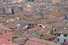 意大利siena托斯卡纳 中世纪镇从上面 库存照片