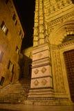 意大利siena托斯卡纳 中央寺院大教堂在夜之前 库存图片