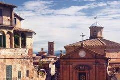 意大利siena视图 库存图片