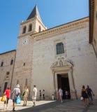 意大利spello 中世纪村庄的宫殿和旅游胜地 免版税库存照片