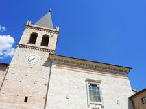 意大利spello 圣塔玛丽亚Maggiore教会 库存图片