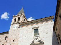意大利spello 圣塔玛丽亚Maggiore教会 库存照片