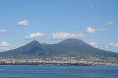 意大利vesuvius火山 免版税库存照片
