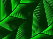 任意形状容量同心图在绿色后面 库存图片