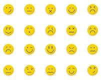 意思号和Emoji隔绝了在所有颜色可以容易地修改或编辑的传染媒介象包装 库存例证