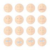 意思号微笑例证套面孔 免版税库存图片