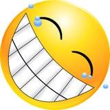 意思号表面面带笑容 免版税库存图片