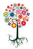 意想不到的五颜六色的树 图库摄影