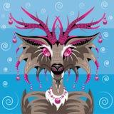 意想不到的动物鹿 免版税库存照片