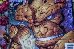 意想不到的四个奇迹漫画超级英雄 免版税库存图片