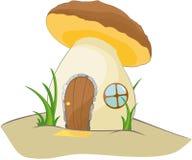 意想不到的棕色蘑菇 库存图片