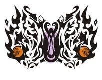 意想不到的部族蝴蝶 免版税库存图片