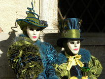 意想不到的面具,威尼斯狂欢节  免版税库存图片