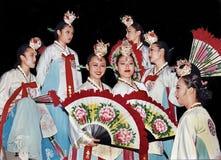 意想不到的韩国舞蹈马戏团 图库摄影