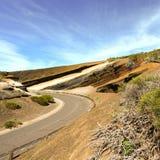 意想不到的风景加那利群岛特内里费岛路 免版税库存图片
