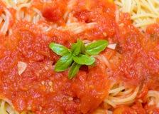 意粉用西红柿酱 库存图片