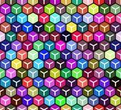 任意颜色求无缝的样式的立方 免版税库存图片