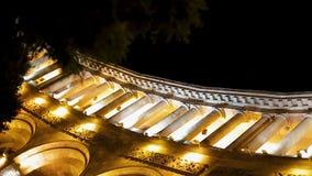 感人地有启发性政府大厦在晚上,共和国正方形,耶烈万 股票视频