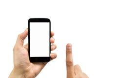 感人的手机 库存照片