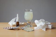 感冒或流感补救 库存照片