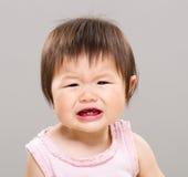 感到的小女孩哀伤 免版税库存照片
