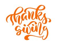 感恩友谊家庭正面行情给感谢天字法 书法贺卡或海报图表 库存例证