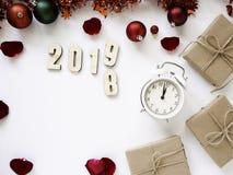 感恩和圣诞节与新年2019年 库存图片