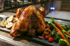 感恩和圣诞节的烤土耳其 免版税库存照片