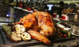 感恩和圣诞节的烤土耳其 免版税库存图片