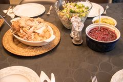 感恩土耳其正餐 免版税图库摄影