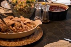感恩土耳其正餐 库存照片