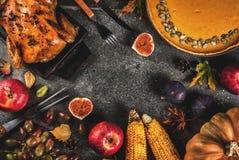 感恩天食物 免版税图库摄影
