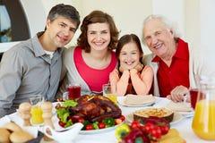 感恩晚餐 免版税库存图片