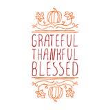 感恩,感激,保佑-印刷元素 皇族释放例证
